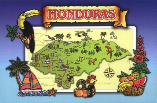 Honduras map card