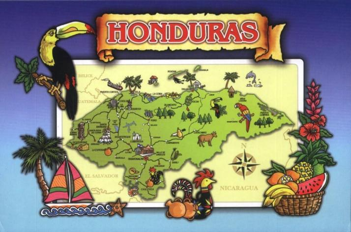 Honduras map card