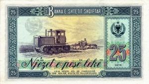 Albania25leke1976rv